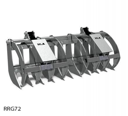 Root Rake with Grapple Attachment