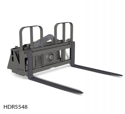 Rotating Pallet Fork Attachment